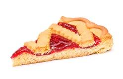 Cherry Pie Slice royalty free stock photo