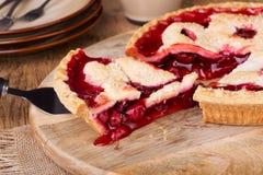 Cherry Pie Slice Stock Photography