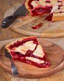 Cherry Pie Slice Stock Images