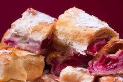 Cherry Pie Slices Stock Photography