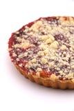 Cherry pie on white  background. Royalty Free Stock Photo