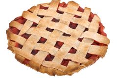 Cherry Pie Whole Stock Photography