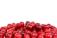 Cherry pile röda stjälkar Arkivfoto