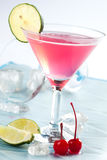 Cherry, pink drink Royalty Free Stock Images