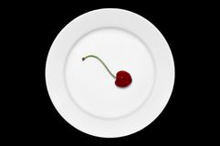 Cherry on the Plate stock photos