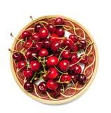 Cherry plate moget Arkivbilder