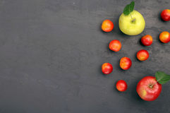 Cherry plum and apples Royalty Free Stock Photos