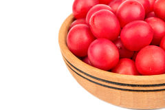 Cherry plum in bowl Royalty Free Stock Images