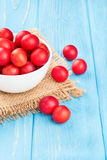 Cherry plum in bowl Stock Photography