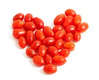 Cherry plum tomato Heart Royalty Free Stock Photos