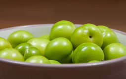 Cherry-plums on table. Cherry-plums on the table Stock Images