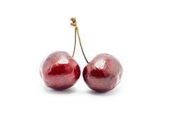 cherry pojedynczy white Obrazy Royalty Free