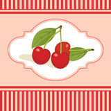 Cherry poster Royalty Free Stock Image