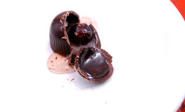 Cherry in a praline. Picture of a Cherry in a praline Royalty Free Stock Photo