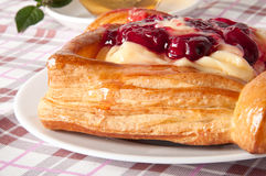 Cherry puff pastry Royalty Free Stock Photo