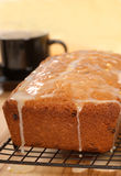 Cherry and raisin bread with lemon icing Royalty Free Stock Photos