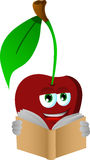 Cherry reading Stock Image