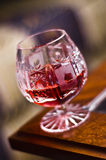 Cherry red alcohol Stock Photos