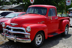 Cherry red 1950 Chevrolet truck Royalty Free Stock Image