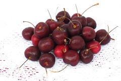 Cherry red isolated Stock Photography