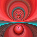 Vivid Red Twisted Swirl stock photo