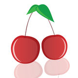 Cherry in red vector illustration Royalty Free Stock Photos