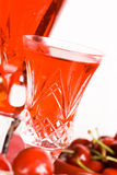 Cherry and red wine Royalty Free Stock Photo