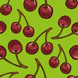 Cherry Repeat Pattern Stock Photography