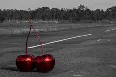 Cherry on the road Royalty Free Stock Photos