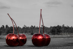 Cherry on the road Royalty Free Stock Photo