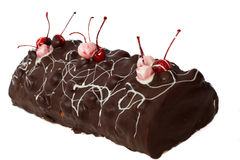 Cherry roll with nuts. Royalty Free Stock Image