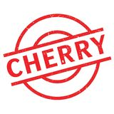 Cherry rubber stamp Stock Images