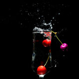 Cherry's in a cup Royalty Free Stock Image