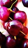 Cherry& x27; s rode groen stock afbeeldingen
