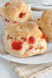 Cherry Scones Stock Image