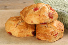 Cherry scones Stock Photography