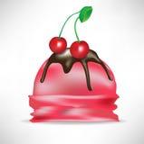 Cherry scoop of ice cream Stock Images