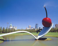 Cherry Sculpture, Claus Oldenburg, Minneapolis, Minnesota Royalty Free Stock Photos