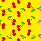Cherry seamless background Stock Images