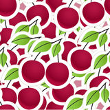 Cherry seamless background Stock Photo