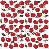 Cherry seamless background Stock Photo