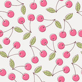 Cherry seamless pattern Royalty Free Stock Photos
