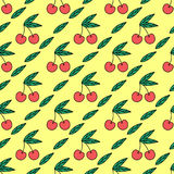 Cherry seamless pattern Royalty Free Stock Image