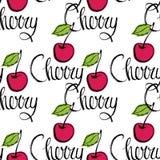 Cherry seamless pattern Stock Photos