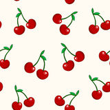 Cherry seamless pattern royalty free illustration