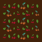 Cherry seamless pattern. Vector texture for textile. Wrapping, wallpapers and other surfaces Stock Photo