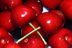 Cherry selection. Scene natural food Royalty Free Stock Photos