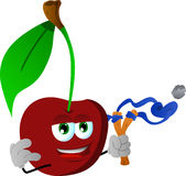Cherry with a slingshot Royalty Free Stock Images