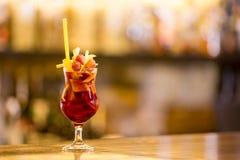 Cherry Smash Cocktail dolce Fotografia Stock Libera da Diritti