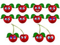 Cherry smile. Set of emotions cherry smile Stock Image